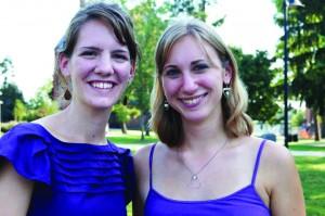 Seniors Alyssa Bosold and Briana Stetler pose during a SASA event. (Photo courtesy of SASA)
