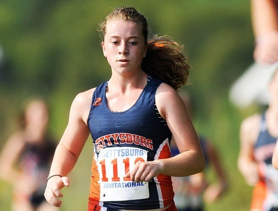 First-year Natalie Ross finished fourth out of fifty one runners Saturday, traversing the 6,000 meter course in 24 minutes and 56 seconds.