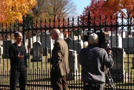 Courtesy of GCC&M History and Africana Studies Prof. Scott Hancock was interviewed at Soldiers' National Cemetery in Gettysburg as part of a Nov. 10 segment on the 150th anniversary of...
