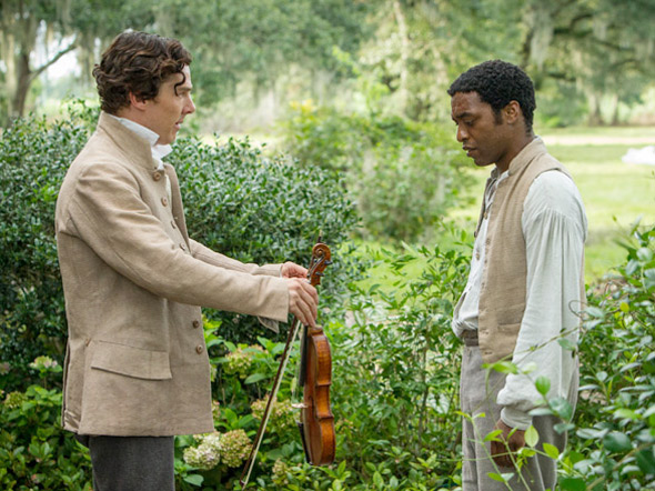 """Chiwetel Ejiofor (right) stars as Solomon Northup in """"12 Years a Slave,"""" which is based off of Northup's autobiography of the same name."""