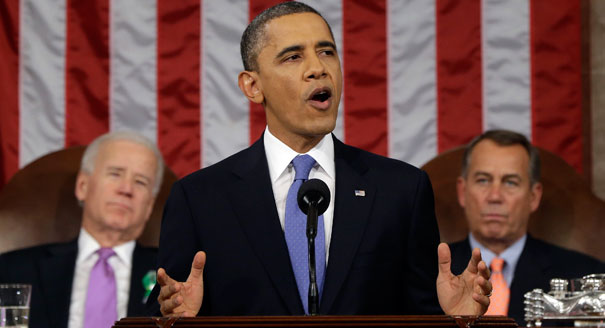 "During his State of the Union address on Jan. 28, President Obama mentioned ""freedom"" just once. Photo Credit: cbsnews.com"