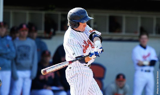 Senior Patrick O'Grady of the Gettysburg College baseball team has been named the Centennial Conference Co-Player of the Week. Photo Courtesy of David Sinclair