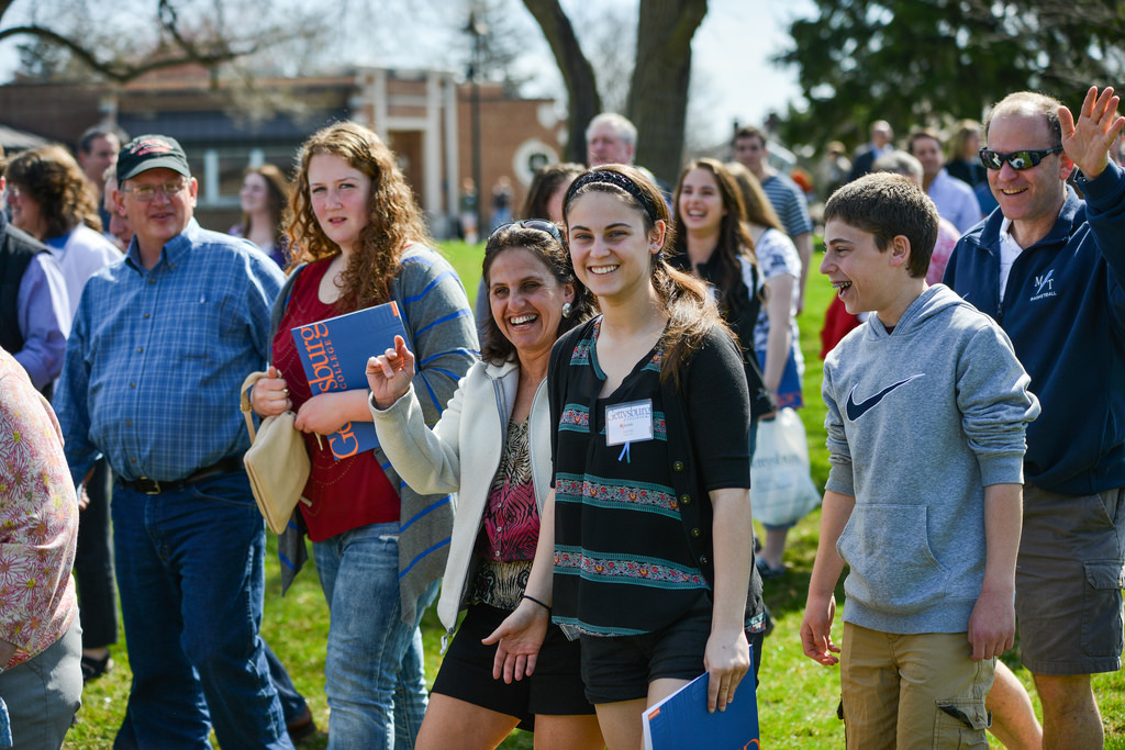 Future members of Gettysburg College's Class of 2018 flooded the campus on their Get Acquainted Day, which allowed the future s tudents and their families to explore Gettysburg College, knowing for the first time that this was their definitive destination. Photo Credit: Gettysburg College Flickr