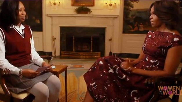 Incoming freshman Nene Sy, a first generation college student, was given the opportunity to interview First Lady Michelle Obama. Photo Credit: bet.com