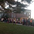 By Brendan Raleigh, News Editor Gettysburg College students lined up from Lincoln Avenue all the way back to the water fountain near Plank Gym in order to join in on...