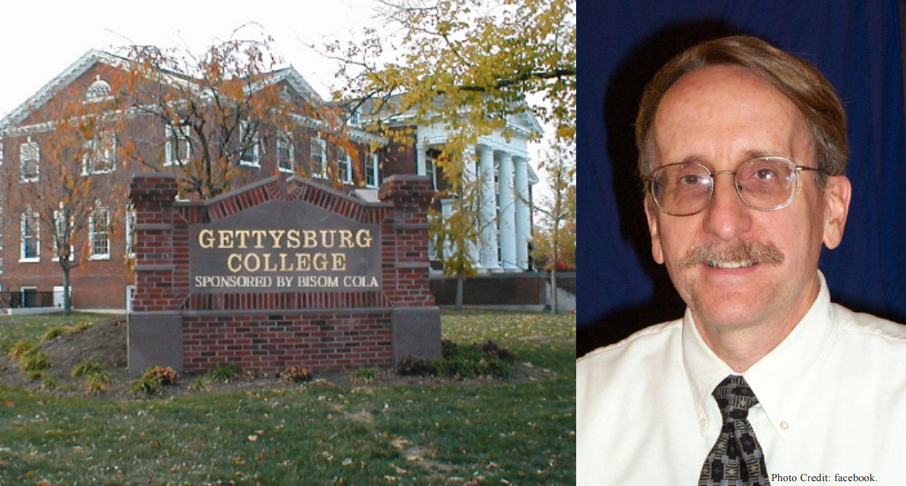 "The recent financial gifts of Bisom Cola Company have purchased a few small changes for Gettysburg College, the most prominent being the requirement that the college follow its name with ""Sponsored by Bisom Cola"" on all official documents. CEO Arnold Levinthall (pictured"