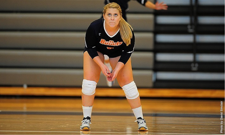 Photo courtesy of Gettysburg College website. Senior Alesha Miller totaled 17 digs in two matches on Saturday.