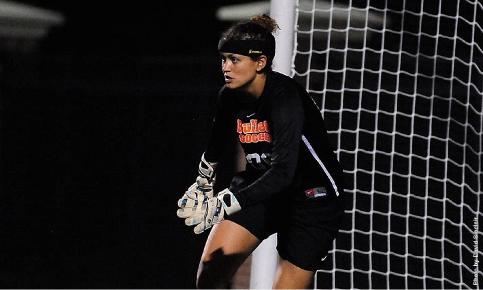 Photo Courtesy of gettysburg.edu. Senior goalie Eliza Gray's tireless defense in the net has helped the women's soccer team qualify for playoffs.