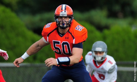 Photo courtesy of Gettysburg College website. Sophomore Joey DeCristofaro earned a spot on the D3Football.com Team of the Week.