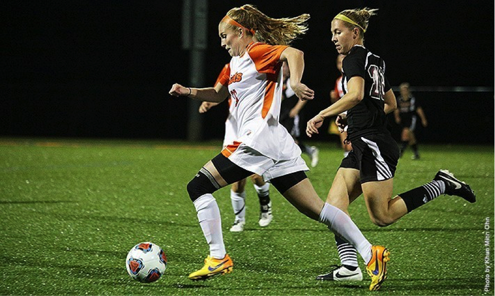 Photo courtesy of Gettysburg College website. Sophomore Haley Brazier and the Bullets tied a school record with their 13th shutout of the season.