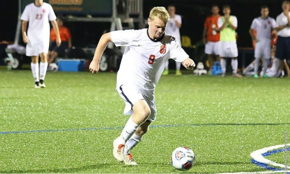 Photo courtesy of Gettysburg College website. Junior Jordy Steelman scored his first career goal in the final match of the season against McDaniel.