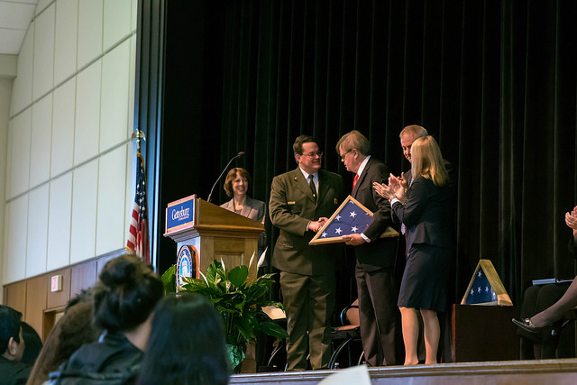 Garrison Keillor was the keynote speaker at Dedication Day. Photo courtesy of Gettysburg College Flikr.
