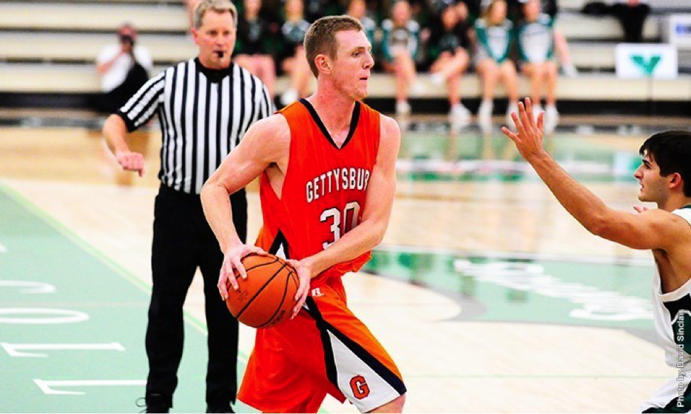 Photo courtesy of gettysburg.edu. Junior Cody Kiefer was named Centennial Conference Player of the Week and was selected to the D3hoops.com Team of the Week in honor of his 34-point outing versus Johns Hopkins.