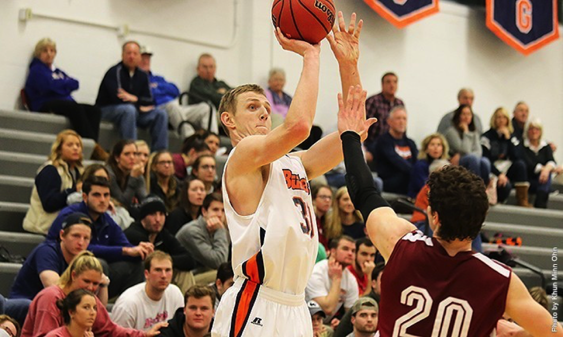 Photo courtesy of gettysburg.edu. Junior Cody Kiefer finished with his fifth double-double of the season against Swathmore College.