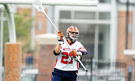 Photo courtesy of Gettysburg Athletics. Senior Geoff Davis was named a Division III Preseason All-American by Lacrosse Magazine this winter.