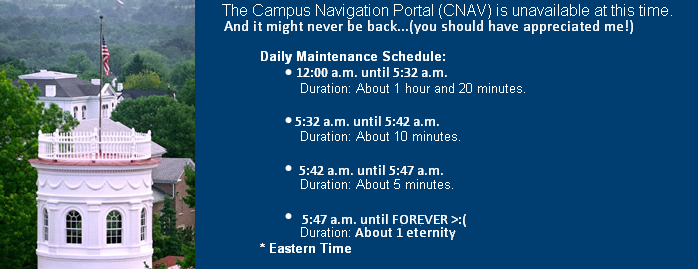 Amid complaints about its functionality, CNAV announces it will be gone for good. Picture Credit: Screenshot/The Gettysburgian