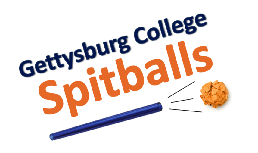 A preview of the new Gettysburg College logo featuring the new school nickname, Spitballs.