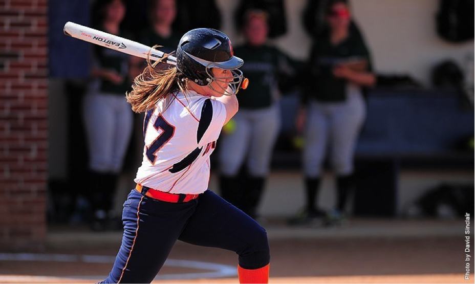 Senior Steph Zengel became the third player in Centennial Conference history to surpass 300 career total bases.