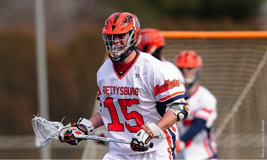 First-year Ryan Kelly and the rest of the Bullets took down Swarthmore College 14-4.