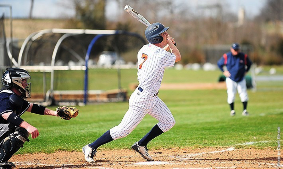 Senior Luke Lawrence batted four hits for the Bullets' doubleheader against Washington College.