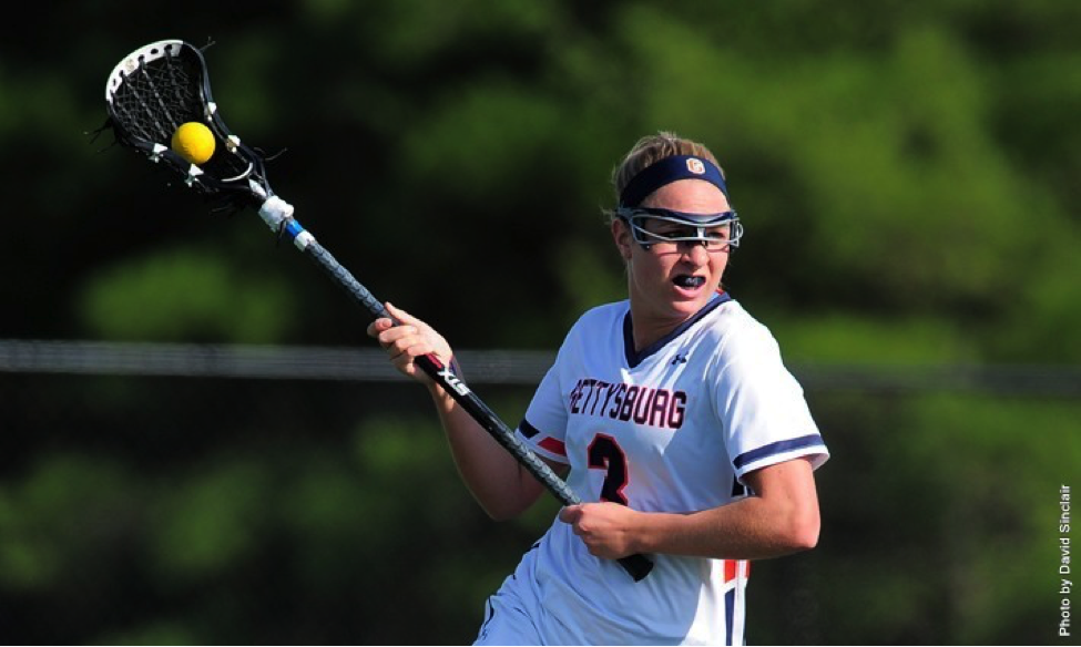 Senior Maggie Connolly earned four goals for Gettysburg to help the Bullets win 14-3 against win Washington College.
