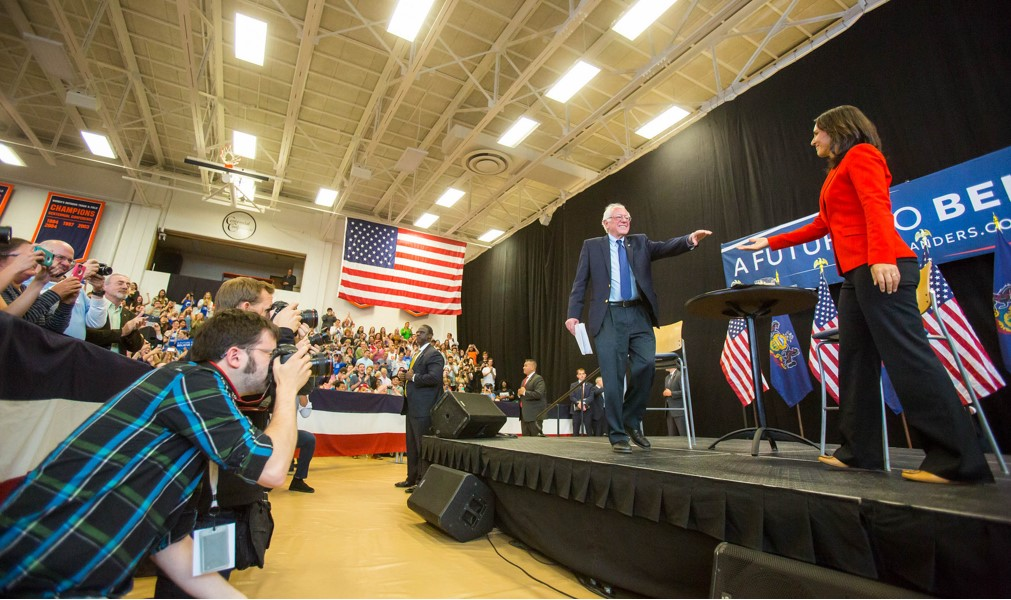Senator Bernie Sanders spoke at Gettysburg College on Friday, April 22. Photo courtesy of the author.