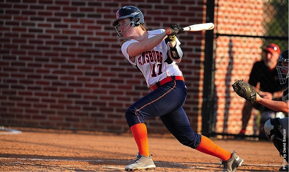Senior Stephanie Zengel became the second person in Centennial Conference history to attain fifty career doubles in the Bullets double header against Ursinus.