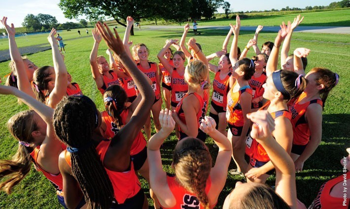 The Gettysburg College Women's Cross Country team was ranked fifth in the Centennial Conference preseason poll.  Photo credit: David Sinclair, GCC&M