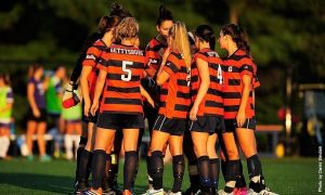 Gettysburg College's Women's Soccer was selected to finish fourth in the Centennial Conference based on the conference preseason poll. Photo Credit: David Sinclair, GC C&M