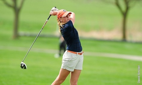Senior Sarah Hansen won the Lebanon Valley golf match Saturday with a score of 79. Photo credit: David Sinclair, GC C&M
