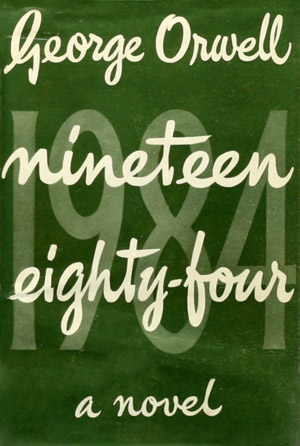 The first-edition cover of George Orwell's 1984