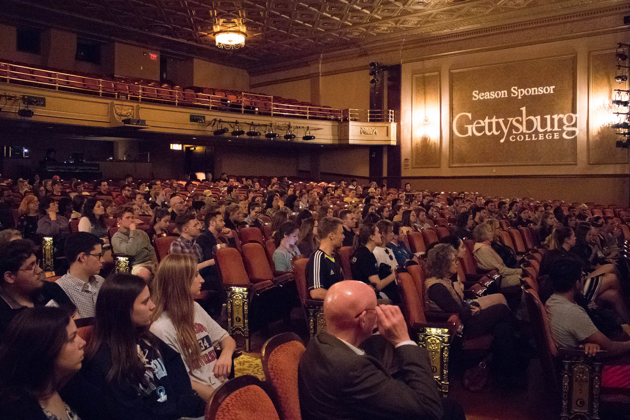 "A sizable crowd of students attended Bryant Terry's speech on food justice, which was part of the ""Year of Food"" Photo courtesy of Gettysburg College"