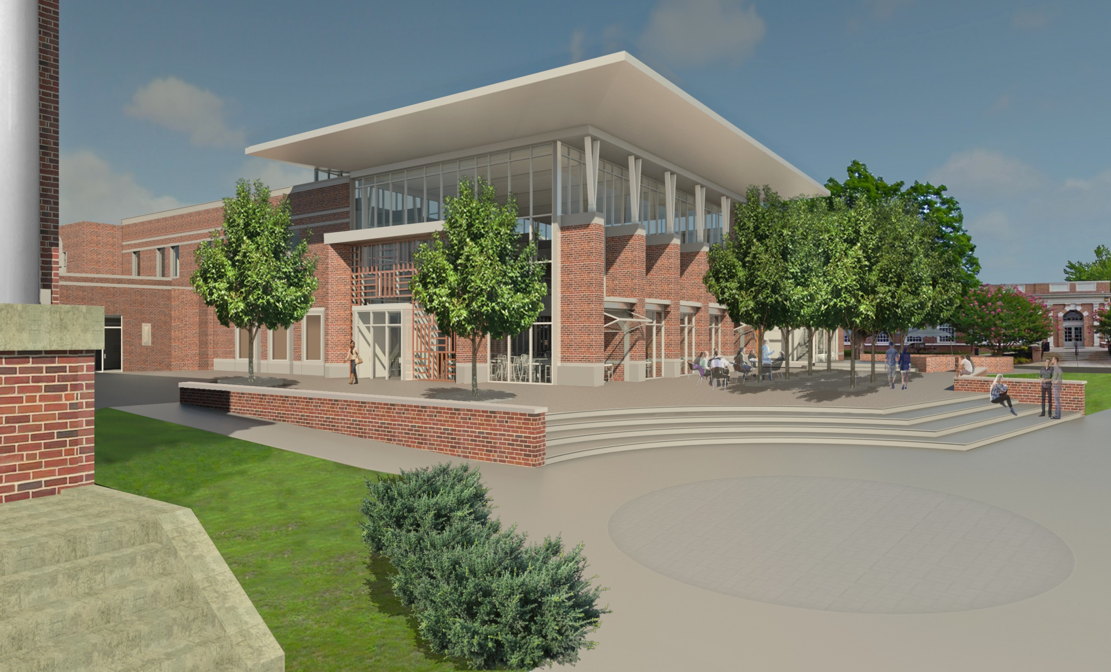 A rendering of the re-designed College Union Building Photo courtesy of Gettysburg College
