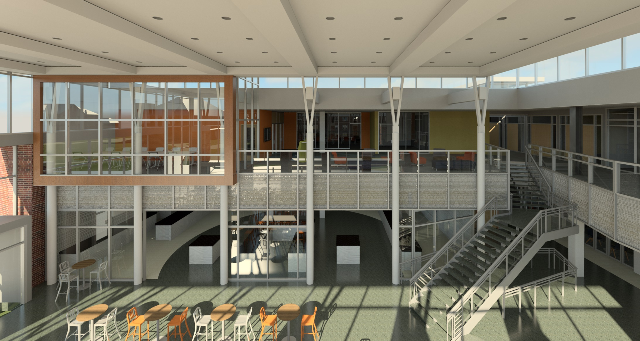 A rendering of the inside second floor of the re-designed CUB