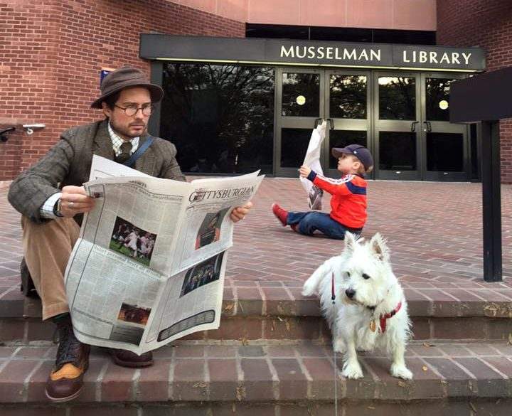 The Isherwood family still believes in print media! (File photo)
