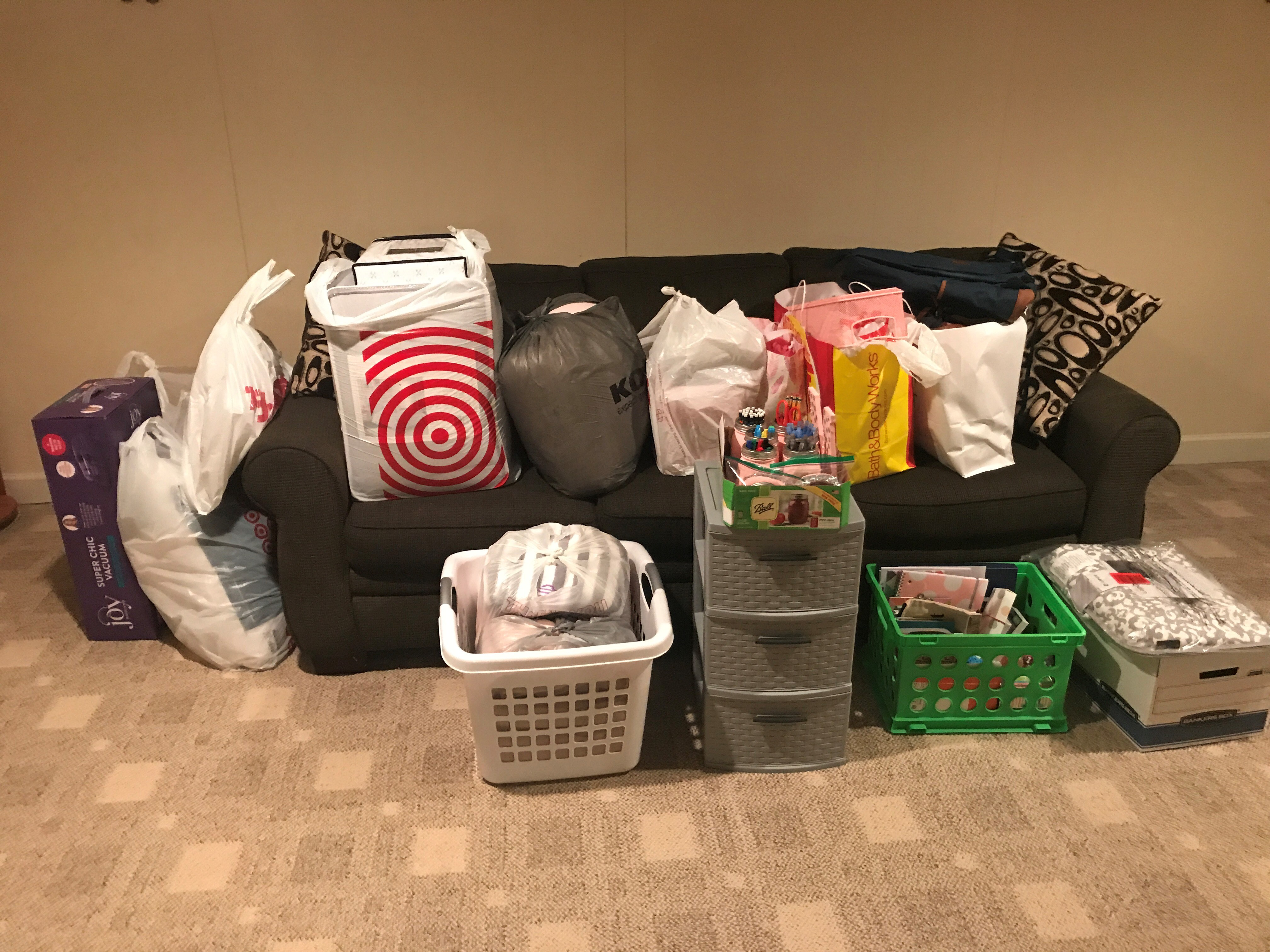 Marisa Balanda '21 ended up coming away with a good amount of stuff as she shopped for dorm decor