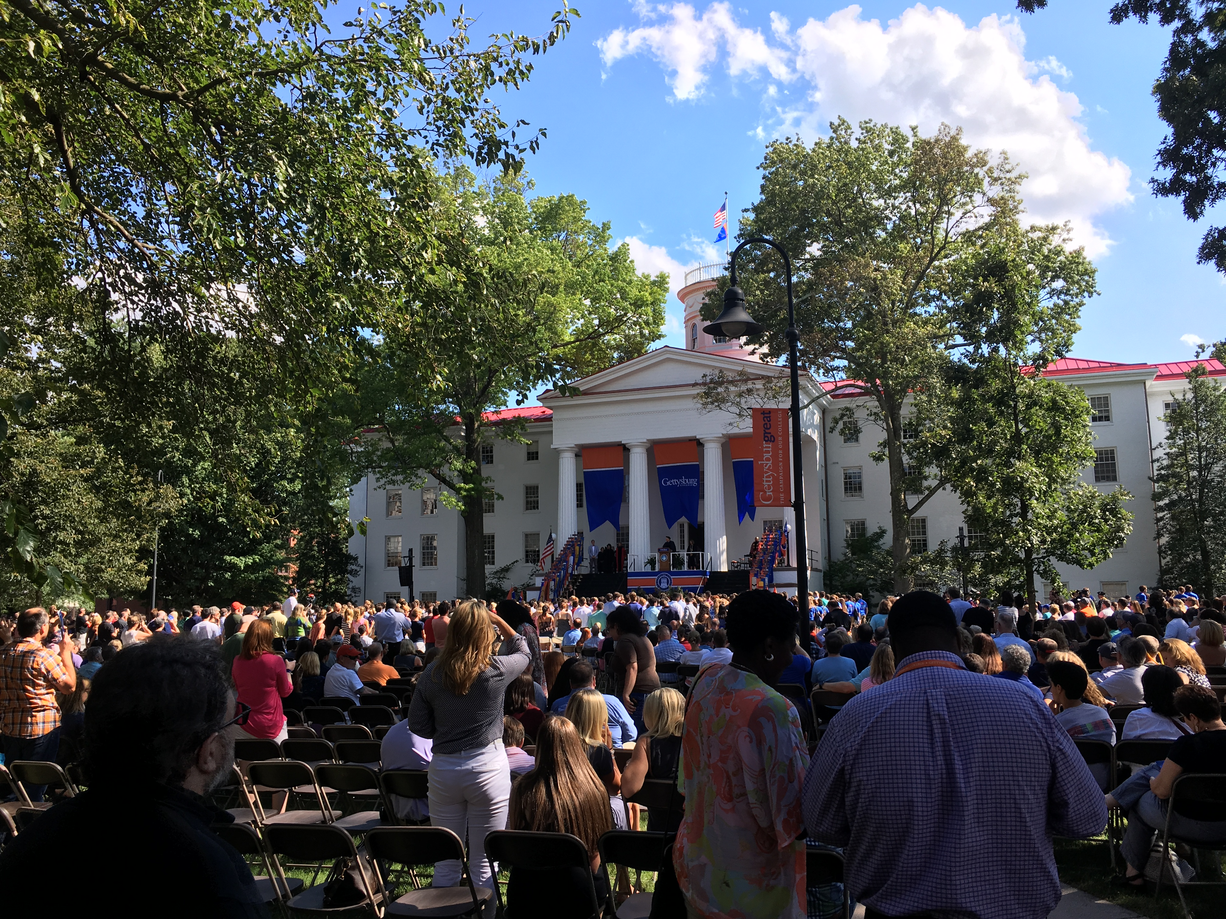 The view of the crowd at Convocation Wednesday Photo Jamie Welch / The Gettysburgian