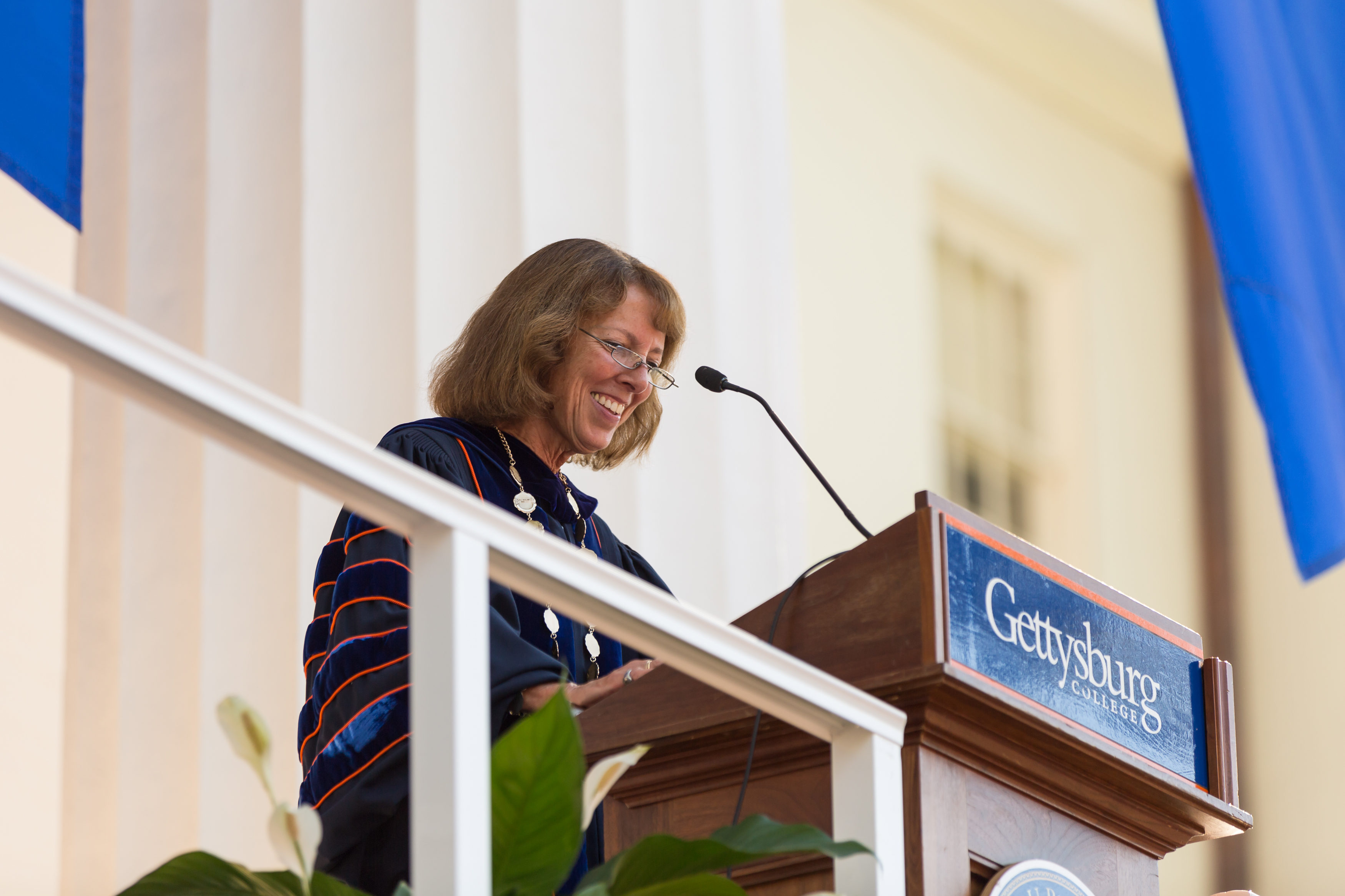 President Janet Morgan Riggs announced her plans last month to retire at the end of the 2018-19 academic year (Photo courtesy of Gettysburg College)