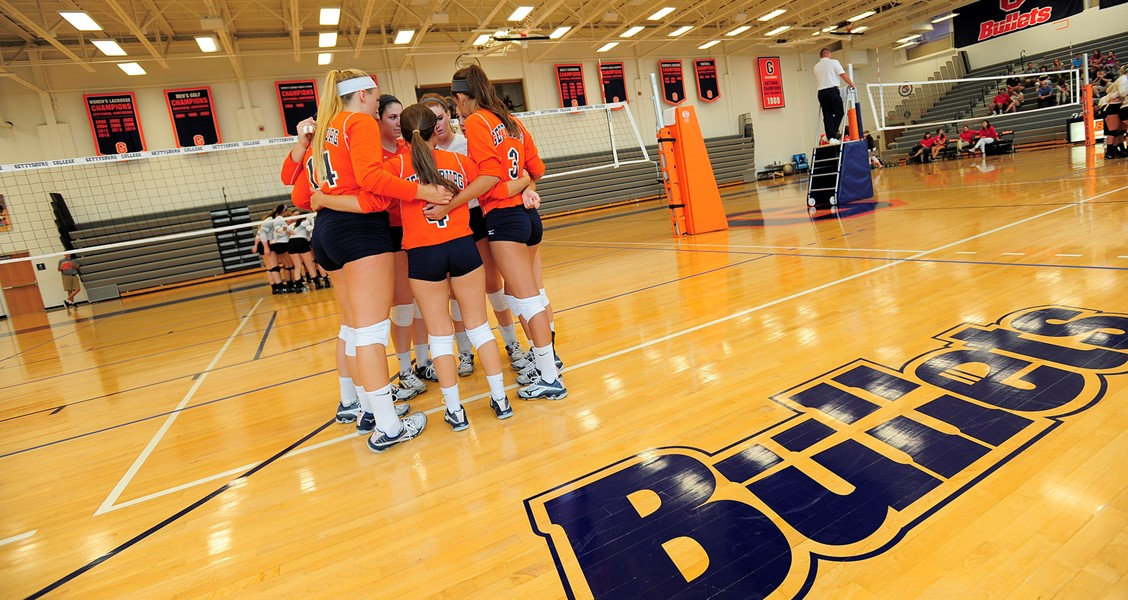 The Gettysburg College Women's Volleyball team is ready to start the Battlefield Classic this weekend in Bream Gym Photo courtesy of Gettysburg College Athletics