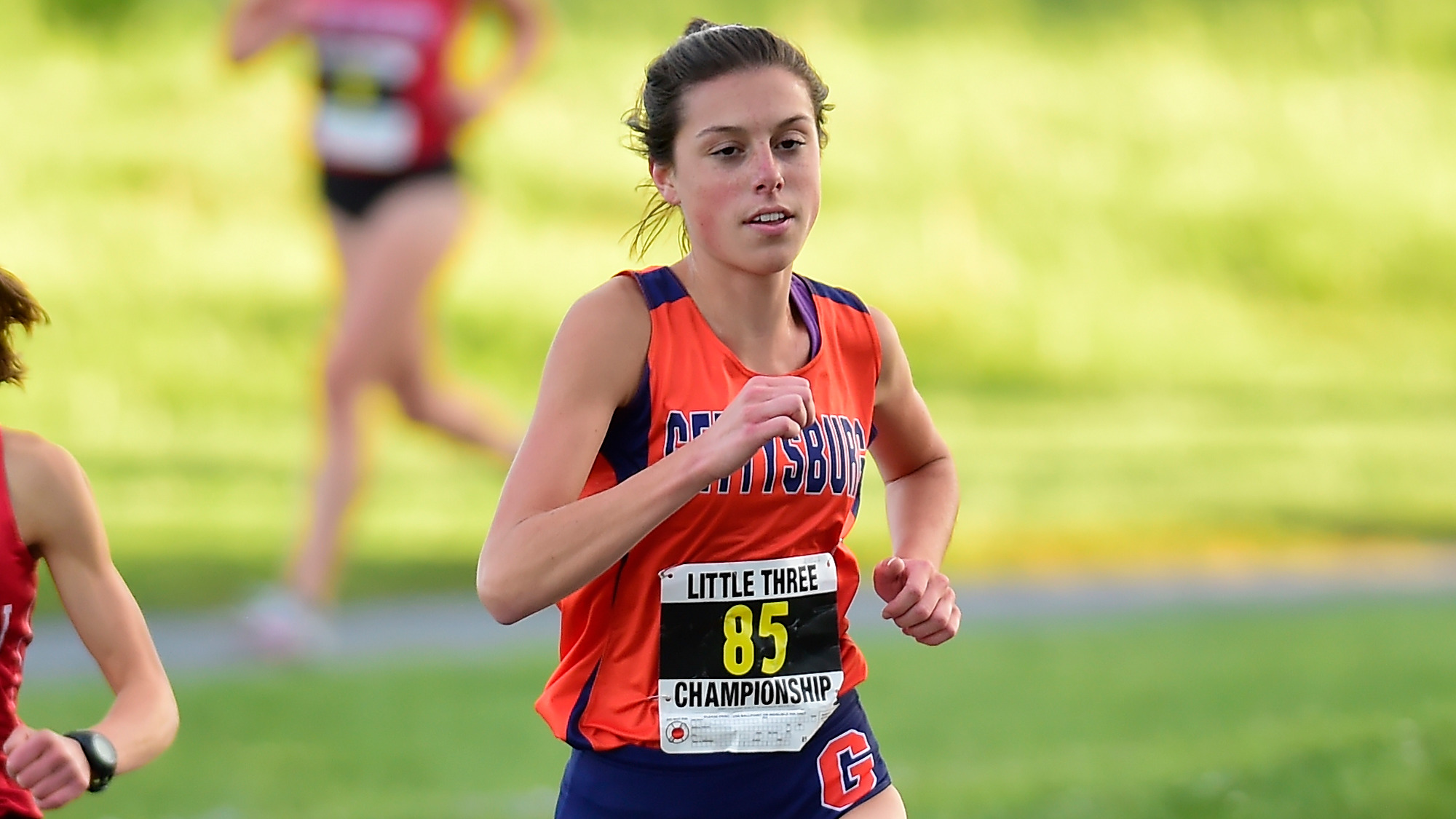 Captain (and co-sports editor for The Gettysburgian) Elizabeth Hilfrank won first place at the Delaware Valley Invitational this weekend (Photo courtesy of Gettysburg College Athletics)