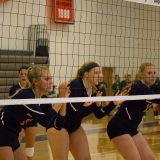 Volleyball Sweeps in Conference Match-up: Lady Bullets Defeat Bryn Mawr Owls 3-0