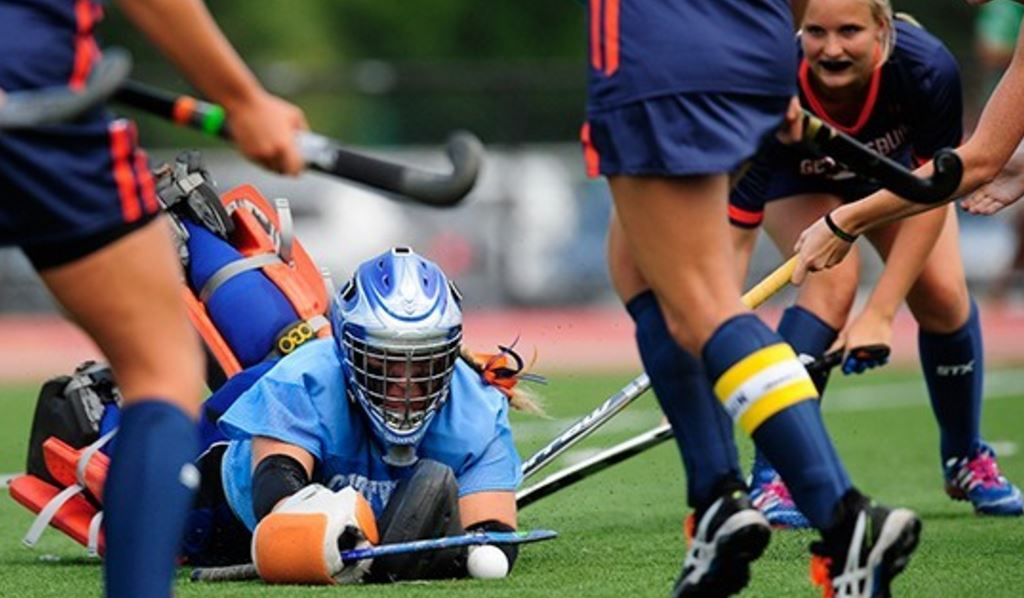 Haley Mowery recorded 11 saves in the goal for the Bullets on Saturday Photo courtesy of Gettysburg College Athletics