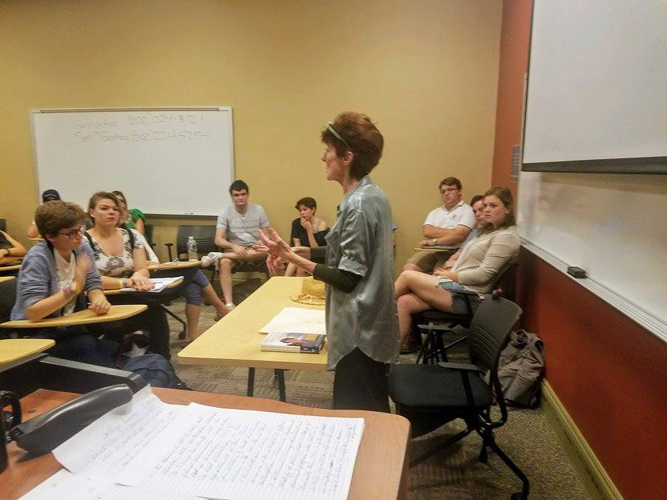 Kate Michelman speaks to the Gettysburg College Democrats in September (Photo Mary Frasier/The Gettysburgian)