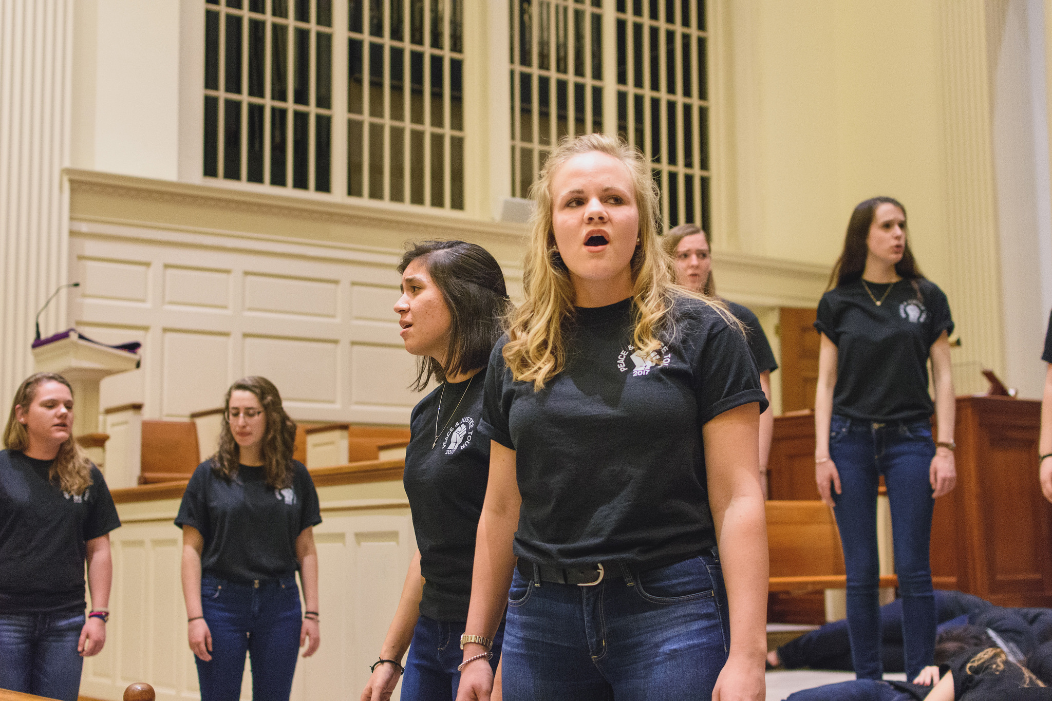 Kelly Reymann performs in a College Choir performance last spring (Photo courtesy of Gettysburg College)