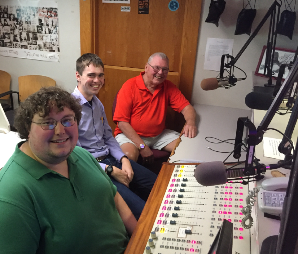 "From L, Jamie Welch, Editor-in-Chief of The Gettysburgian, Benjamin Pontz, Managing News Editor of The Gettysburgian, and Ted Streeter, Mayor of Gettysburg appear on the podcast ""On Target"" (Photo Zachary Sobeck / The Gettysburgian)"