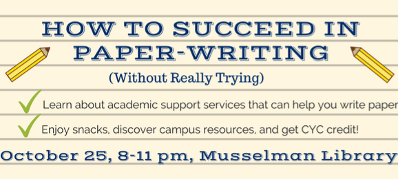 How to Succeed in Paper-Writing: Drop-in Event on October 25