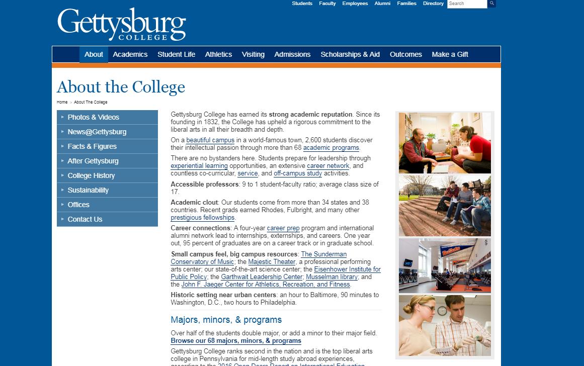 current-gettysburg-website