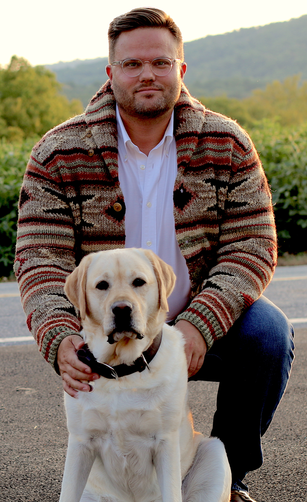 Professor Scott Boddery and his dog Kennedy (submitted photo)