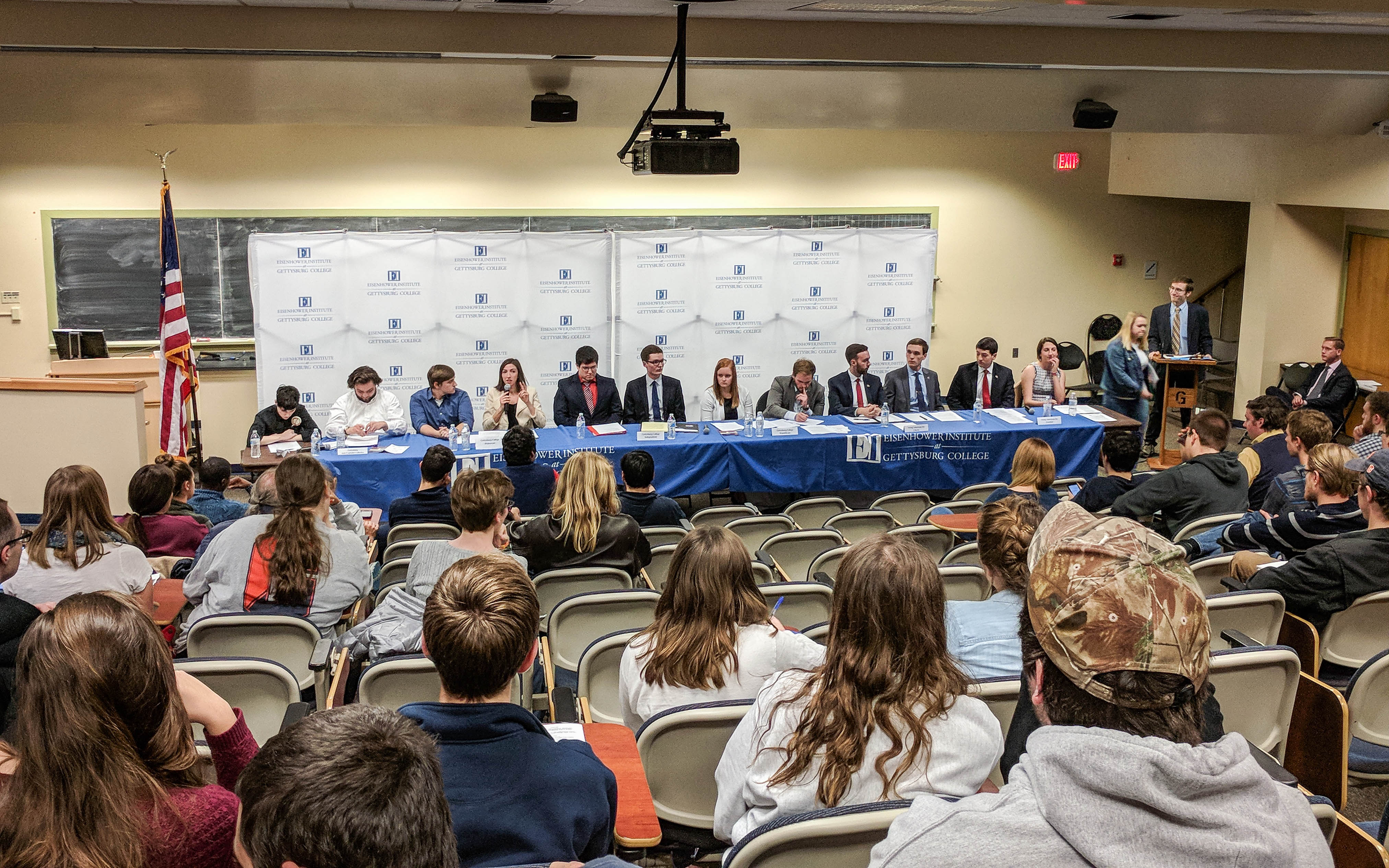 The debate was held before a relatively full Mara Auditorium (Photo Mary Frasier / The Gettysburgian)