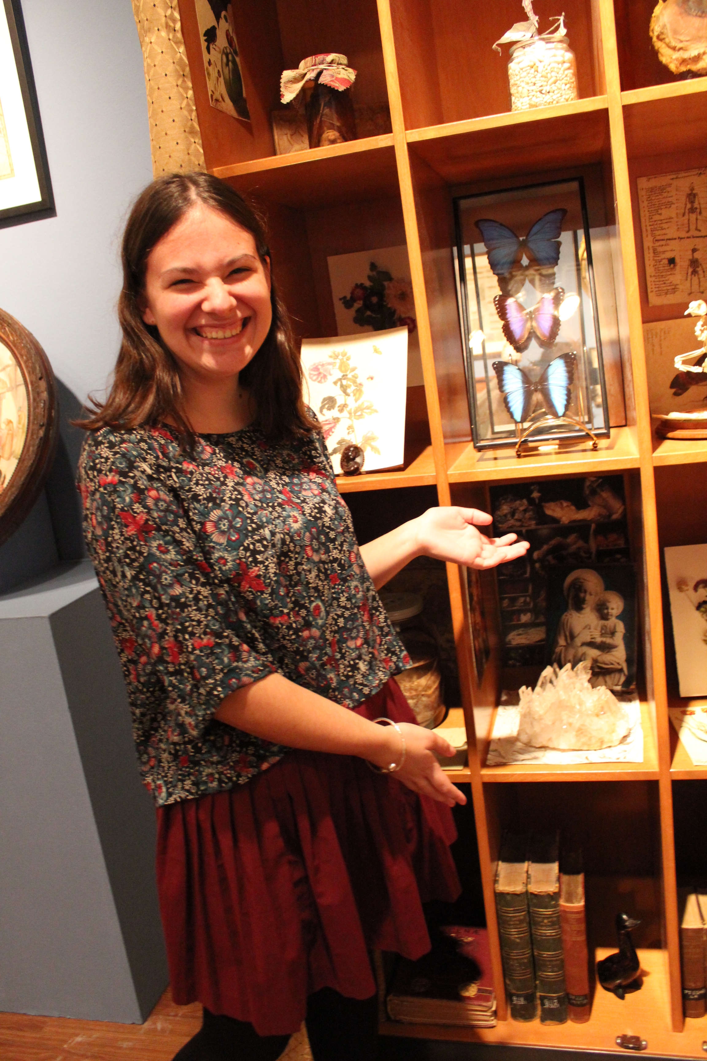 Shannon Zeltmann shows her work in the Wonder Room exhibit (Photo courtesy of project website)